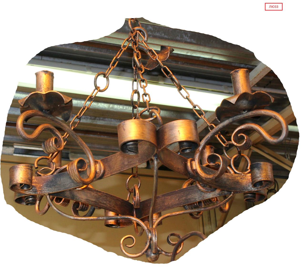 Кованая люстра на 4 лампы
