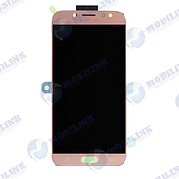 Дисплей Samsung J7 (2017) J730 Розовый Pink GH97-20736D оригинал!