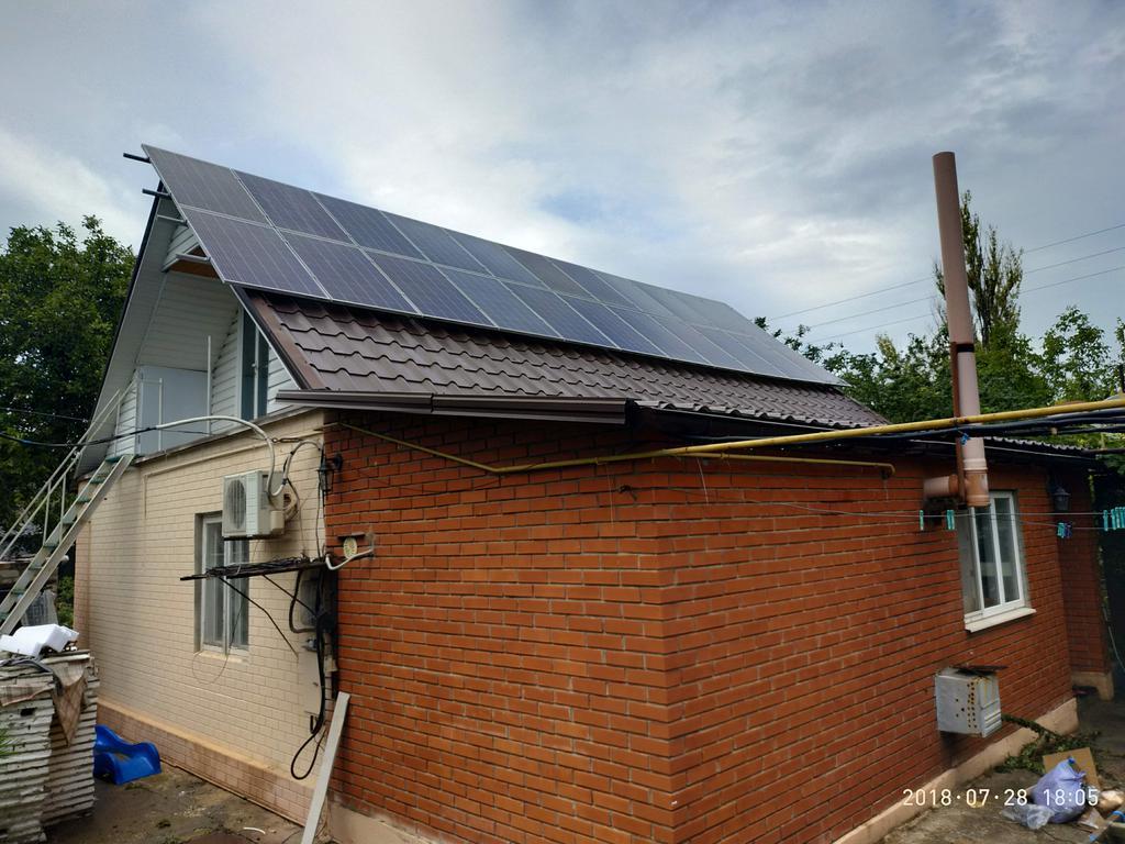 Сетевая солнечная электростанция 10 кВт, малая Белозерка
