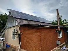 Сетевая солнечная электростанция 10 кВт, малая Белозерка 1
