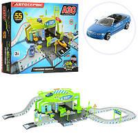 Гараж с машинкой 6,5см 55 деталей (машинки, автомодели, игрушки для мальчиков)