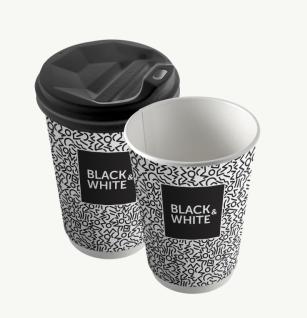 "Стакан 450 мл ""Black & White - ЕВРО"""