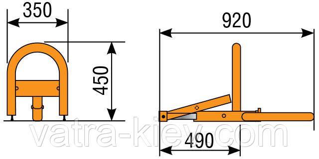 Размер барьера Came ARK1