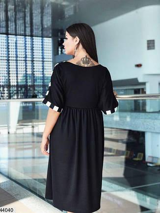 Шикарное демисезонное платье черного цвета размеры: 48-50, 52-54, фото 2