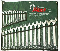 Набор ключей комбинированных 6-32 мм HANS 26 предметов лента (16626М)