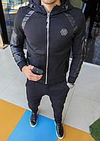 Мужская куртка Philipp Plein Стильная куртка Материал: плотный текстиль, эко-кожа Качественная фурнитура S-4XL