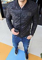 Стильная брендовая куртка EA Плащевка, манжеты резинка Размер:S, M, L, XL, 2XL, 3Xl, 4XL