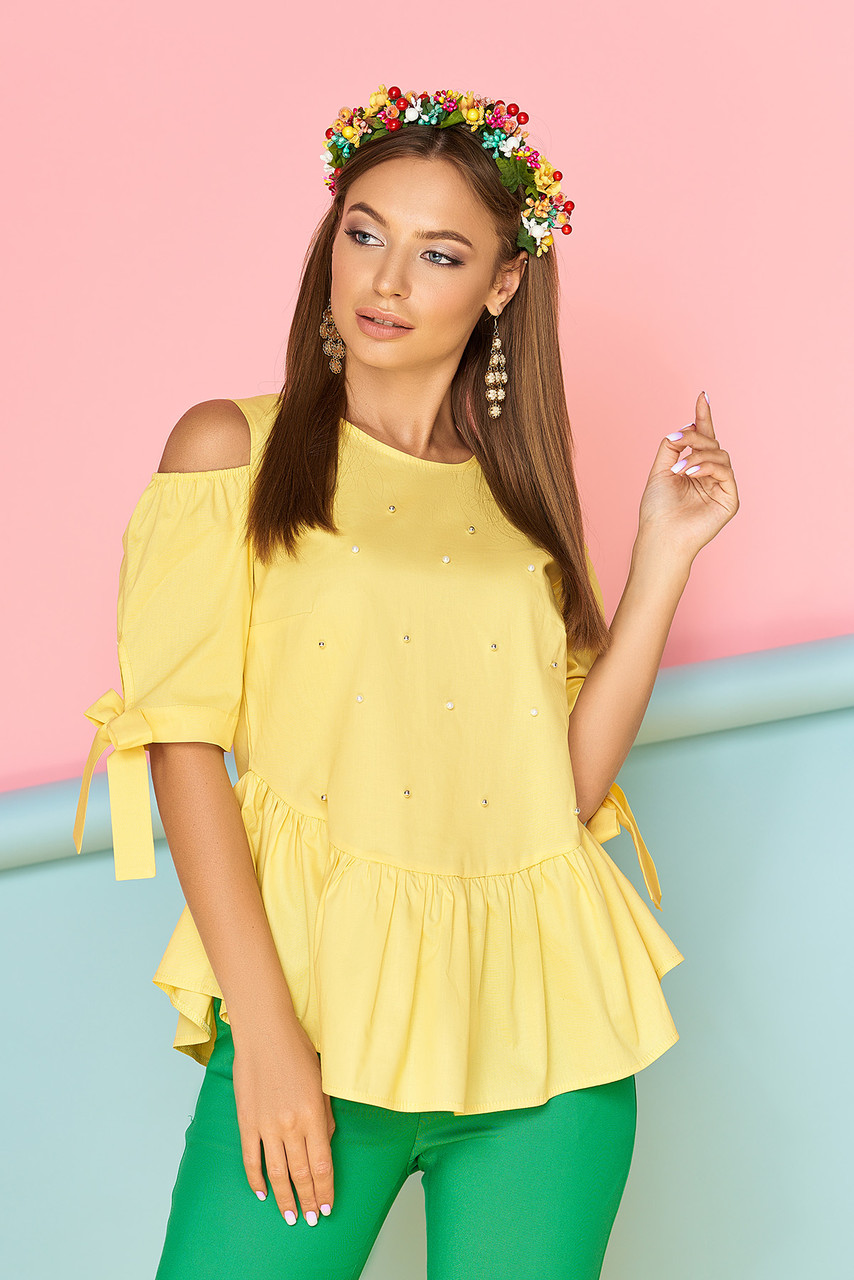 Блуза Джоки 44-50 желтый