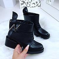 Ботинки LV эко кожа , ремешок съемный, каблук 5 см