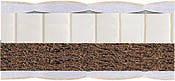 BUNNY Latex-kokos 2 in 1 / БАННИ Латекс Кокос 2 в 1  двусторонней жесткости