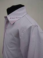 Рубашка для мальчиков 128,140,164 роста лиловая нарядная 128