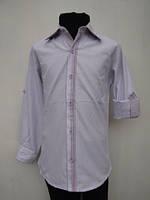 Рубашка для мальчиков 128,140,164 роста лиловая нарядная