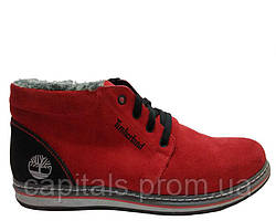 "Мужские ботинки Timberlend City ""Red Suede"""