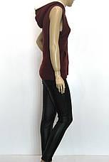 Жіноча  вязана кофта без рукавів з капюшоном, фото 3