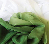 Тюль шифон  Растяжка зеленый , высота 2.8м