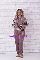 Махровая пижама женская очень тёплая L