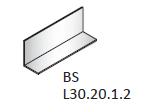 Уголок алюминиевый 20*30
