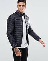 Куртка мужская в стиле Pull&Bear,материал-синтепон,цвет-синий. Код товар AA-K0035