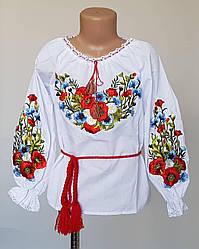 Красивая детская вышитая блуза «Полевые цветы»
