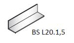 Уголок алюминиевый 20х20