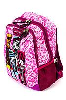 Рюкзак шкільний Monster High smole 1857 рожевий Туреччина, фото 3
