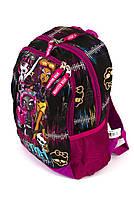 Рюкзак школьный Monster High smole 1858 розовый Турция, фото 2