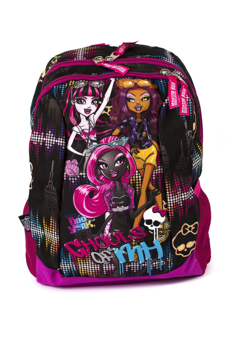 Рюкзак школьный Monster High smole 1858 розовый Турция