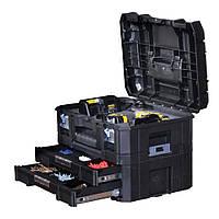 """Ящик инструментальный """"FatMax™ TSTAK COMBO II + IV"""" 44 x 33,17 x 32,6 cм с выдвижными ящиками Stanley FMST1-71981"""