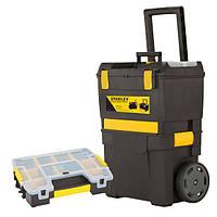Ящик для инструмента Stanley STST1-73645 |Ящик для інструментів з колесами + ящик-органайзер (бонус комплект)