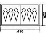 Шестимісна двокімнатна намет Coleman 1500, фото 4