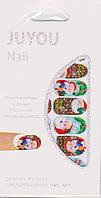Наклейка новогодняя для дизайна ногтей