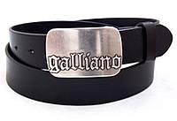 Мужской кожаный ремень Galliano, фото 1