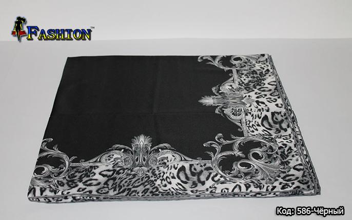 Платок чёрный атлас-масло Айла, фото 2