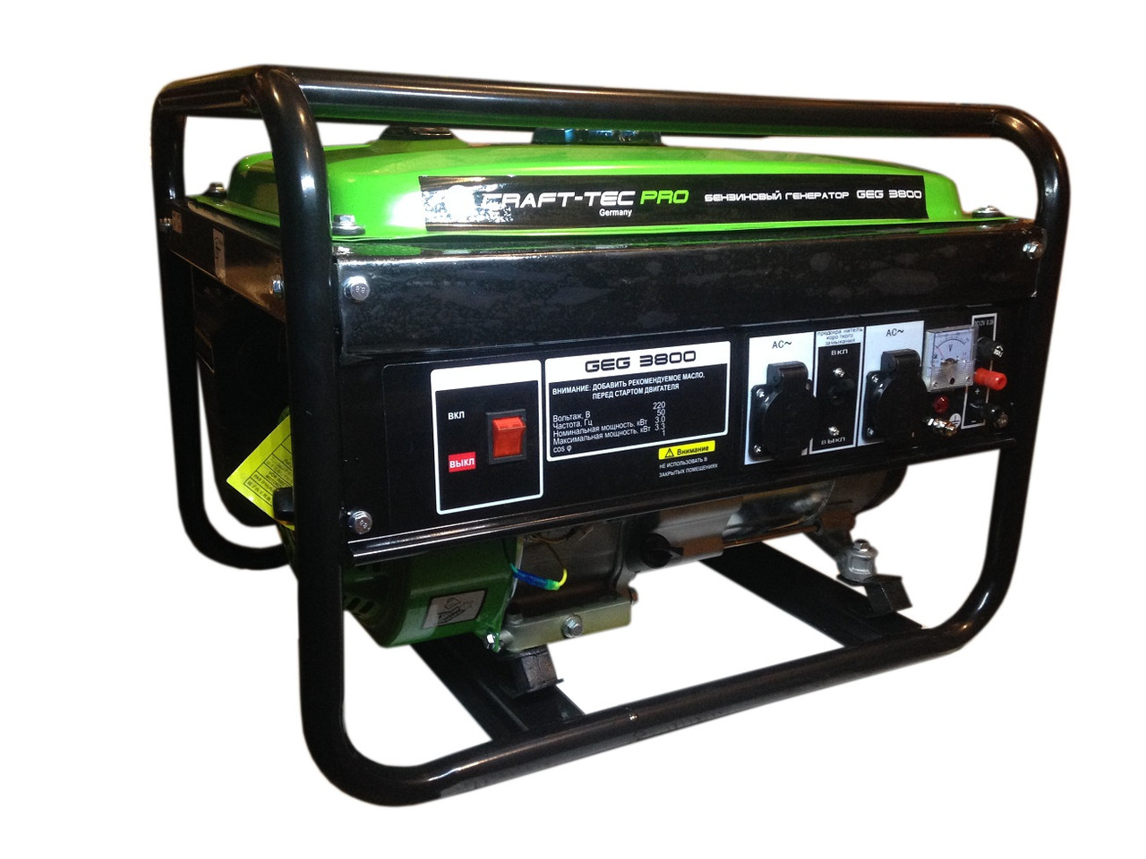 Бензиновий генератор CRAFT-TEC PRO GEG 3800