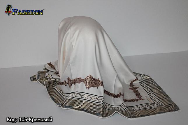 Женский кремовый платок Гюльчатай, фото 2