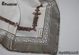 Женский кремовый платок Гюльчатай, фото 3