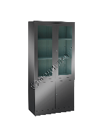 Шкаф лабораторный двухстворчатый с сейфом (из нержавеющей стали) ШЛ-2сн