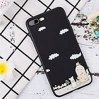 Чехол для iPhone 7/8 черный мультяшный «Multi night» прочный