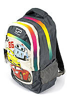 Рюкзак школьный Тачки 1401 серый Турция, фото 2