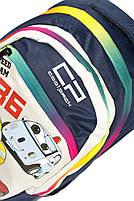 Рюкзак школьный Тачки 1401 синий Турция, фото 3