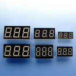 Индикатор светодиодный E30361-L-O-8-W  (dark grey) семисегментный /Toyo/