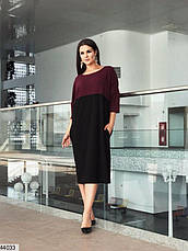 Женское платье-туника демисезонное свободное размеры:48-50 и 52-54, фото 3