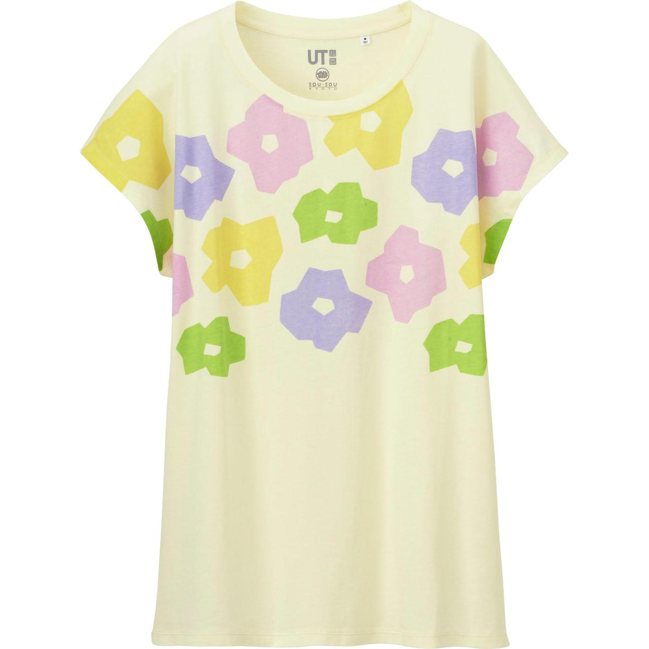 Футболка Uniqlo Women Sou.Sou Graphic 2 CREAM