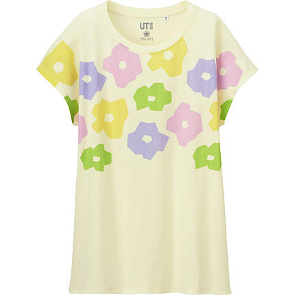 Футболка Uniqlo Women Sou.Sou Graphic 2 CREAM, фото 2