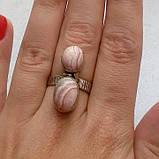 Родохрозит кольцо с натуральным родохрозитом в серебре. Размер 17,5. Индия, фото 3