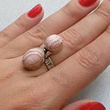 Родохрозит кольцо с натуральным родохрозитом в серебре. Размер 17,5. Индия, фото 4