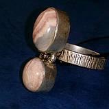 Родохрозит кольцо с натуральным родохрозитом в серебре. Размер 17,5. Индия, фото 2