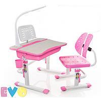 Комплект парта и стульчик Evo-kids Evo-03 (с лампой и подставкой), фото 1