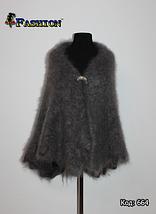 Оренбургский серый пуховой платок Джамалия 105, фото 3