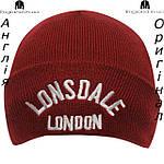 Шапка Lonsdale из Англии для мальчиков 2-14 лет - красная, фото 2